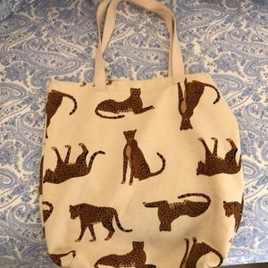 Limited Edition Old Navy Animal Print Canvas Tote